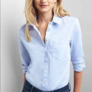 Gap fitted boyfriend oxford shirt